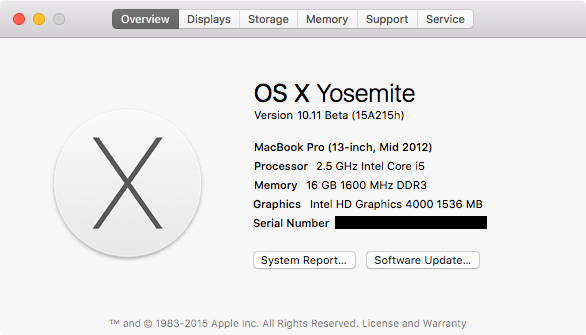 El Capitan Installed