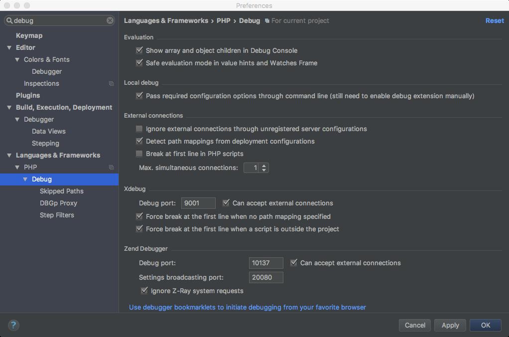 Useful debug options