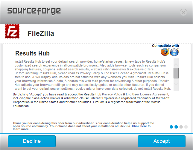 SF Filezilla Install Results Hub