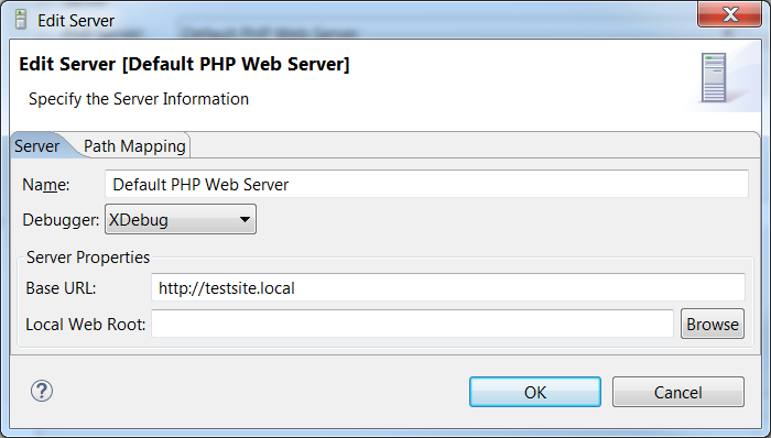 Edit the PHP Web Server